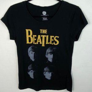 The Beatles Short Sleeve Black T-Shirt Band Tee